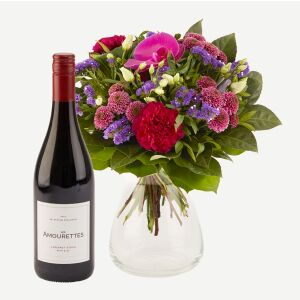 Sparkling Flora and Les Amourettes red wine